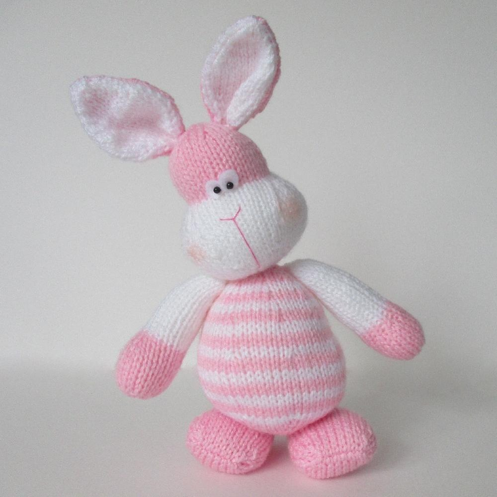 Knitted Bunnies Free Pattern : Marshmallow Bunny Rabbit Knitting pattern by Amanda Berry Knitting Patterns...