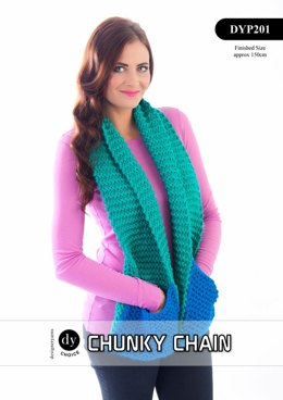 Pocketed Scarf in DY Choice Chunky Chain - DYP201