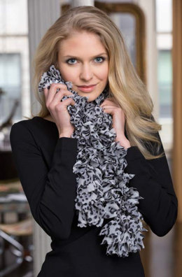 Elevate Your Ruffles Scarf in Red Heart Boutique Sassy Fabric - LW4127EN - Downloadable PDF