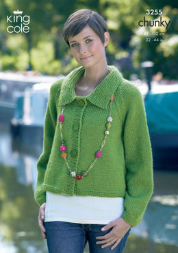 Cardigans in King Cole Big Value Chunky - 3255