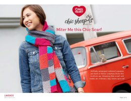 Miter Me This Chic Scarf in Red Heart Chic Sheep - LW5903 - Downloadable PDF