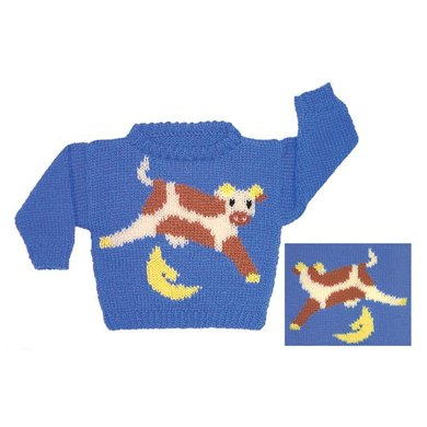 Cow Jumped Over the Moon Sweater to Knit