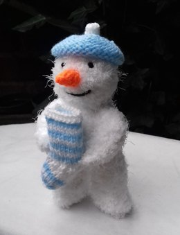 Snowman with Christmas Stocking Surprise