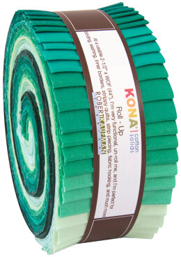 Robert Kaufman Kona Cotton Solids 2.5in Strip Roll - RU-441-40