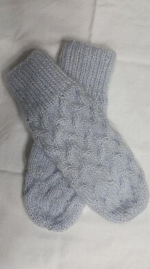 Ocean Waves Cable Mitts