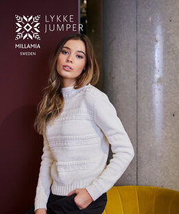 Lykke Jumper in MillaMia Naturally Soft Merino - Downloadable PDF