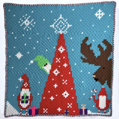 Gnome for Christmas C2C Blanket CAL