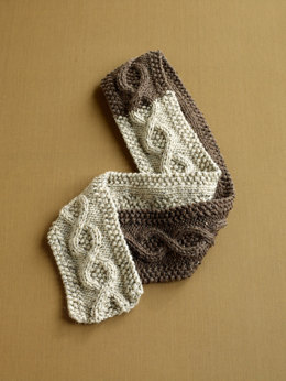 Covetable Cable Scarf in Lion Brand Vanna's Choice - 90292AD