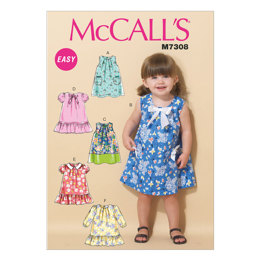 McCall's Toddlers' Tent Dresses M7308 - Sewing Pattern