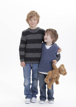Kids Jumpers in Patons Wool Blend Aran - 3755