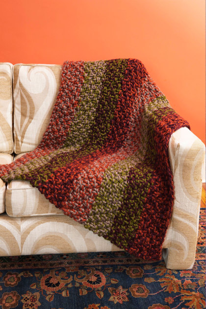 Bells Lake Afghan In Lion Brand Wool Ease Thick Amp Quick