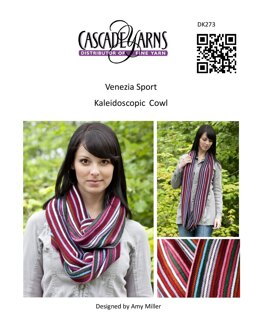 Kaleidoscopic Cowl in Cascade Yarns Venezia Sport - DK273 - Downloadable PDF