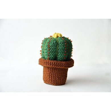 Small Cactus - Ball Cactus - Cute Green Cactus - Crochet Cactus - Crochet Plant - Plant Home Decor - DIY Plant - CROCHET PATTERN no.164