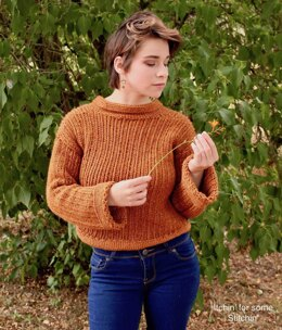 Easy Ribbed  Sweater