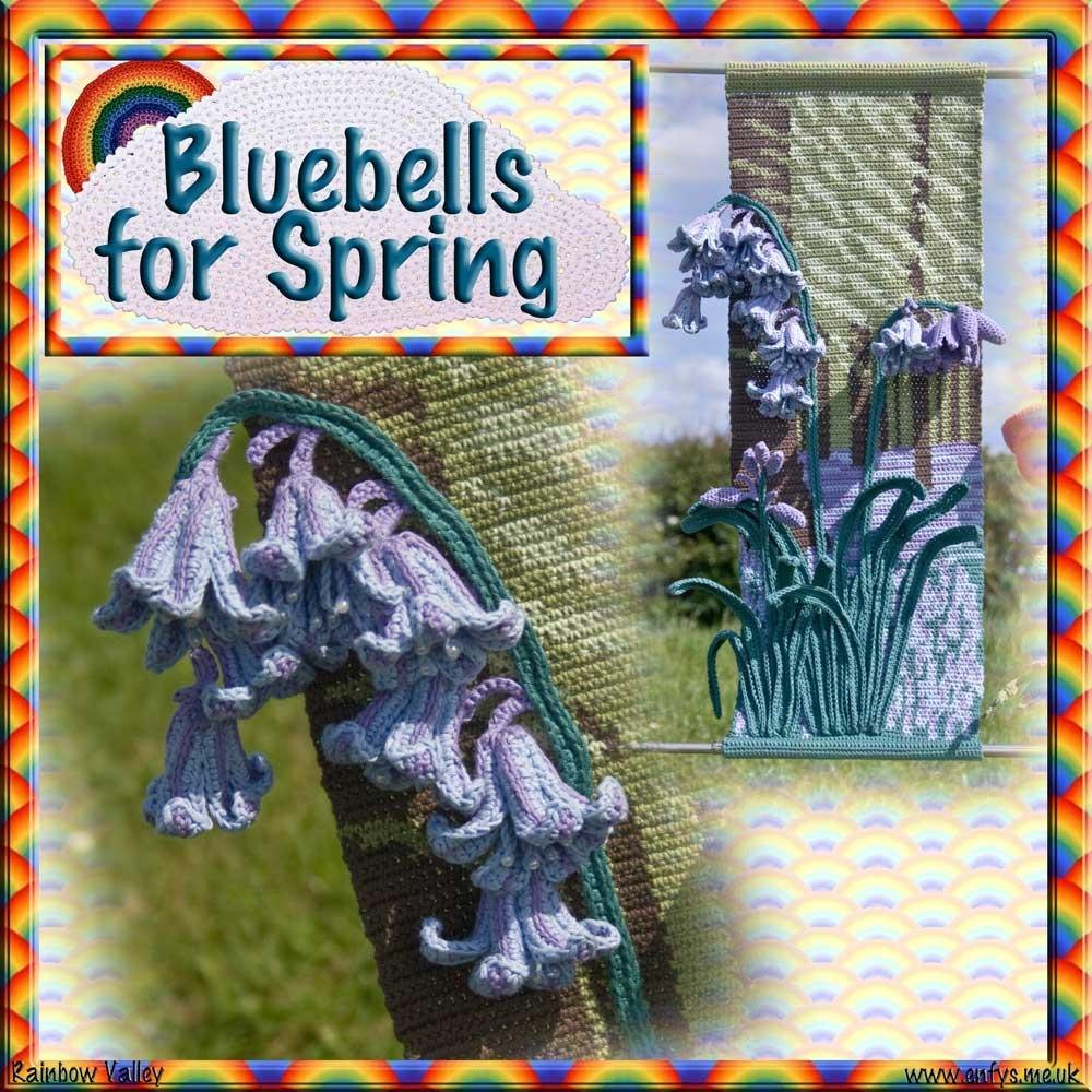 Four Seasons Hangings Bluebells For Spring Crochet Pattern By