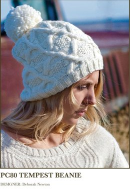 Tempest Beanie in Imperial Yarn Willamette - PC80 - Downloadable PDF