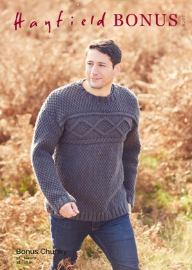 Sweater in Hayfield Bonus Chunky - 8293 - Downloadable PDF