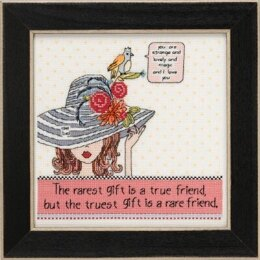 Mill Hill Curly Girl - Rarest Friend - 7.25inx7.25in