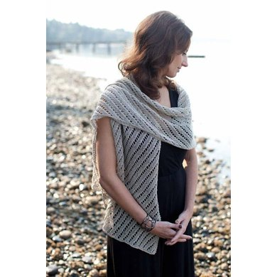 Diagonal Lace Scarf & Wrap