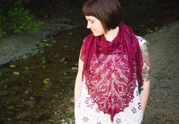 Tulips Triangular Shawl and Square Baby Blanket in SweetGeorgia Cashsilk Lace and Superwash Worsted