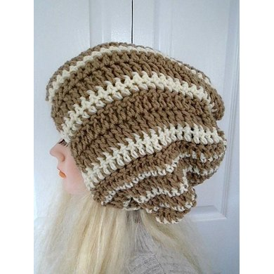828 - Slouchy Striped Hat