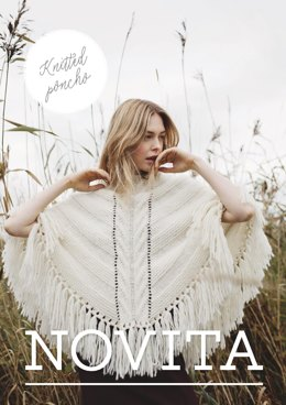 Women's Knitted Poncho in Novita Natura - 13 - Downloadable PDF