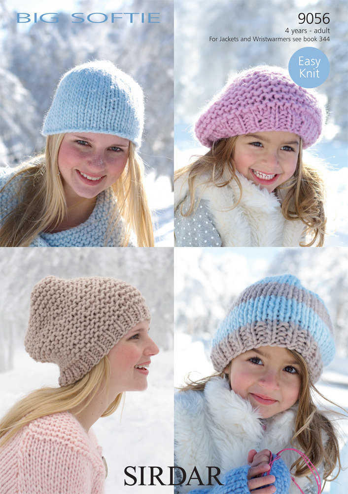 Hats in Sirdar Big Softie Super Chunky - 9056 - Downloadable PDF