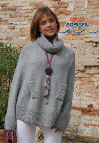 Talia Poncho in Adriafil Mirage - Downloadable PDF