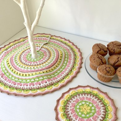 Spring Petals Tree Skirt and Mandala Set