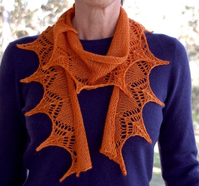 d2be45fd2094 1 Ball 4 ply Lace Scarf Knitting pattern by Mrs Rose Designs