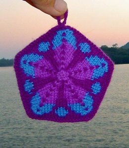 5-Point Fair Isle Holiday Ornament