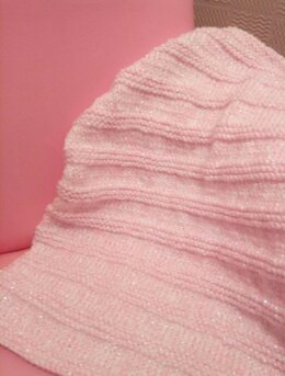 Princess Sparkle Stripes Baby Blanket - Easy