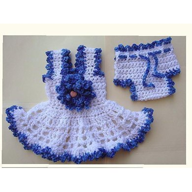 587 Short Ruffled Baby Sundress and Diaper Cover