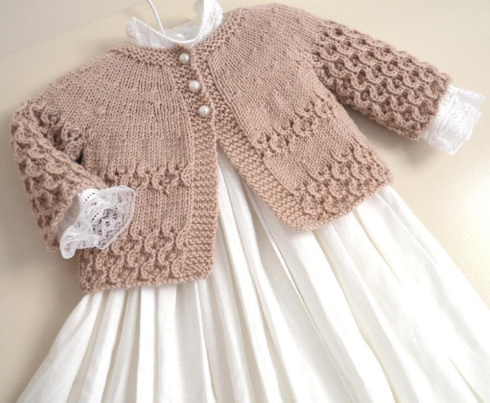 Knitting Pattern Baby Cardigan 8 Ply : Round Yoke Cardigan - P088 Knitting pattern by OGE Knitwear Designs