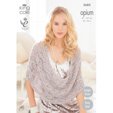 Scarf, Snoods, Poncho and Wrap in King Cole Opium - 3685