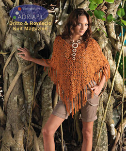 Tonga Poncho in Adriafil Spice - Downloadable PDF