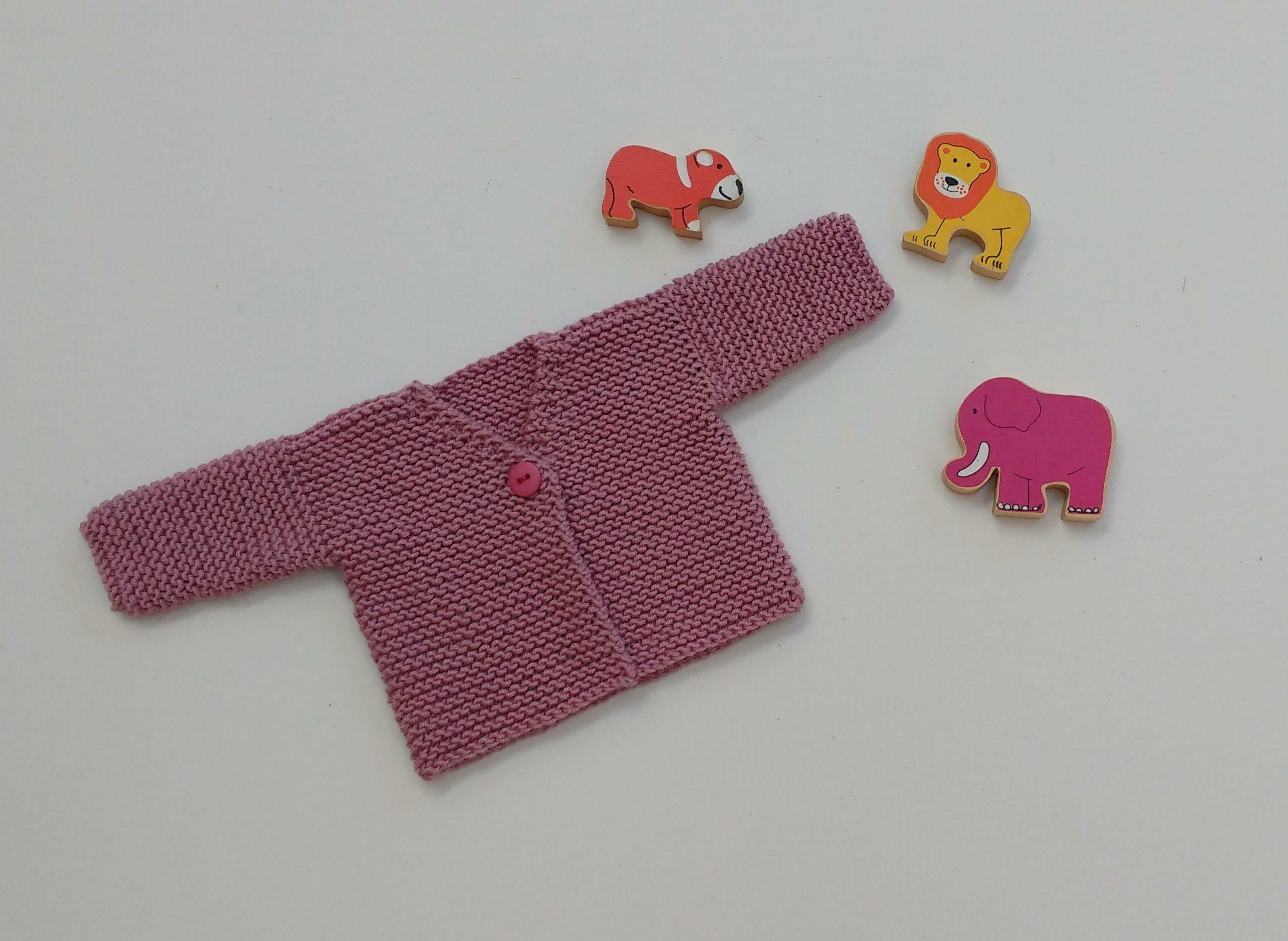 PREMATURE BABY-EARLY BABY 4lbs-5lbs Baby PINK CARDIGAN