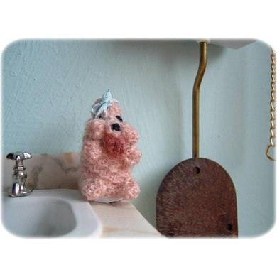 1:12th scale Poodle toilet roll cover