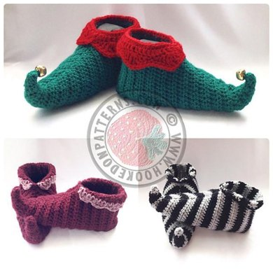 Curly Toes Elf Slipper Shoes Crochet Pattern By Hooked On Patterns