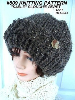 509 Knitted Slouchy winter hat