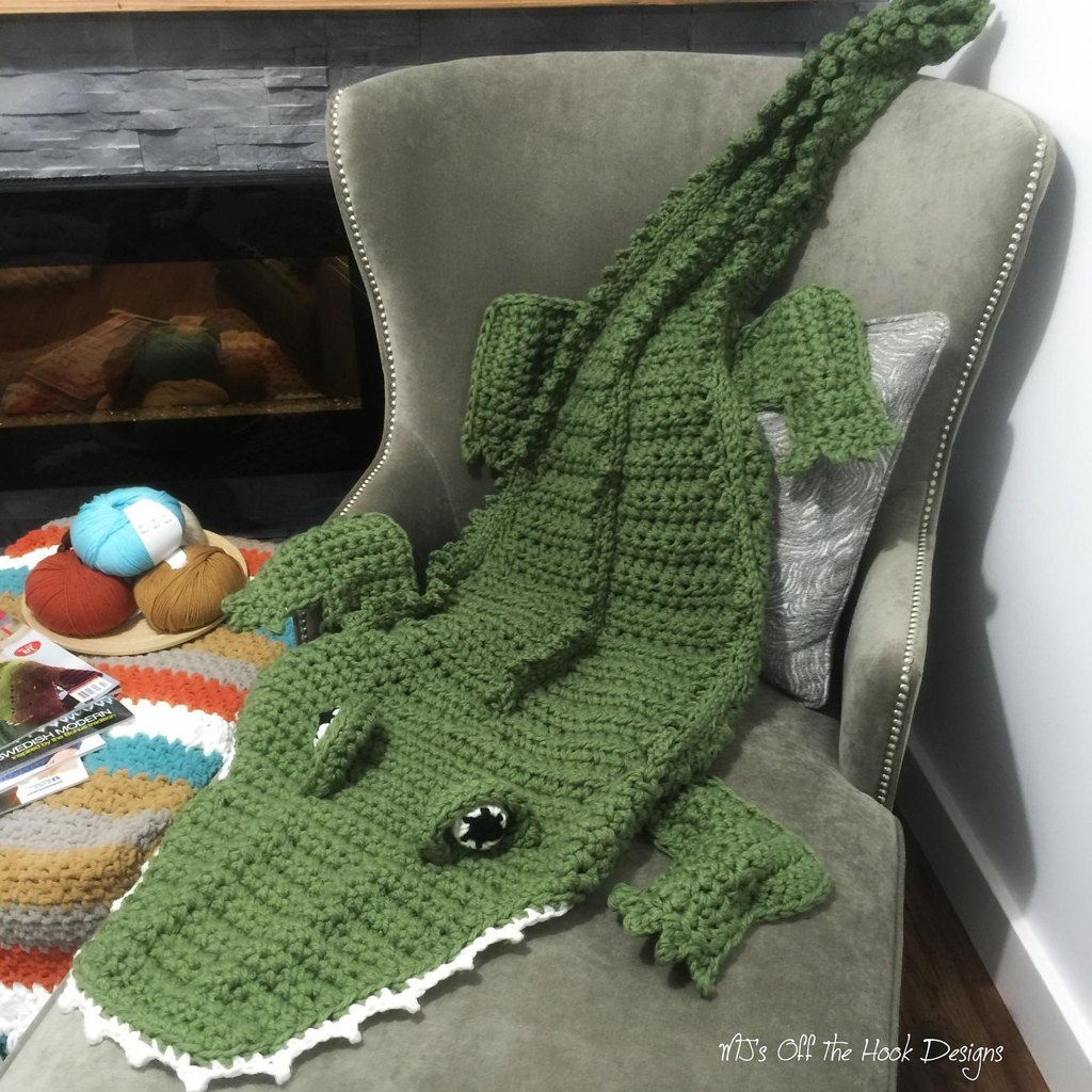 Bulky quick alligator blanket crochet pattern by mjsoffthehook zoom bankloansurffo Choice Image