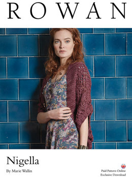 Nigella Shrug in Rowan Big Wool Silk - D106