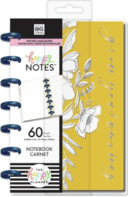Me & My Big Ideas Happy Planner Mini Notebook W/60 Sheets - Floral Line Art