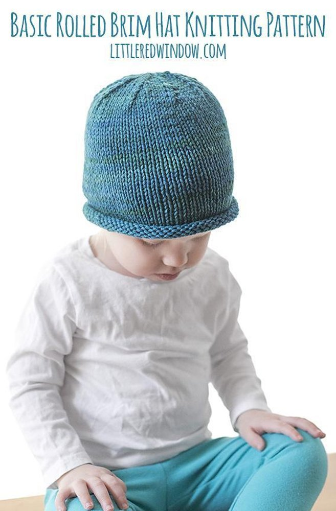 Easy Rolled Brim Baby Hat Knitting Pattern By Cassandra May