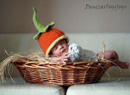Pumpkin. New Born Baby Hat