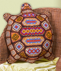 PANNA Tortoise Cross Stitch Cushion Front Kit - 36cm x 44cm