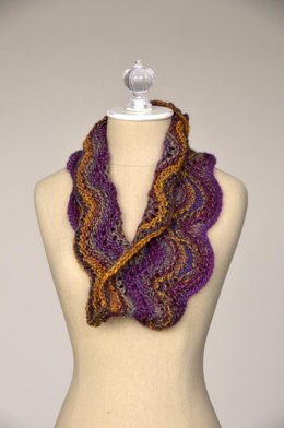 Wave Cowl in Universal Yarn Classic Shades Metallic - 996 - Downloadable PDF