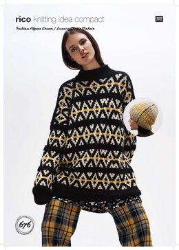 Sweater and Hat in Rico Fashion Alpaca Dream and Luxury Magic Mohair - 676 - Downloadable PDF