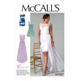 McCall's Misses' Mix-and-Match Sweetheart Dresses M7507 - Sewing Pattern