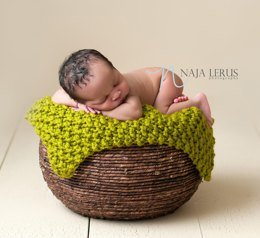 MOSS - Chunky Knit Baby Blanket